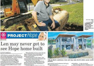 BOP Times - Project Hope - Len may never get to see Hope home built